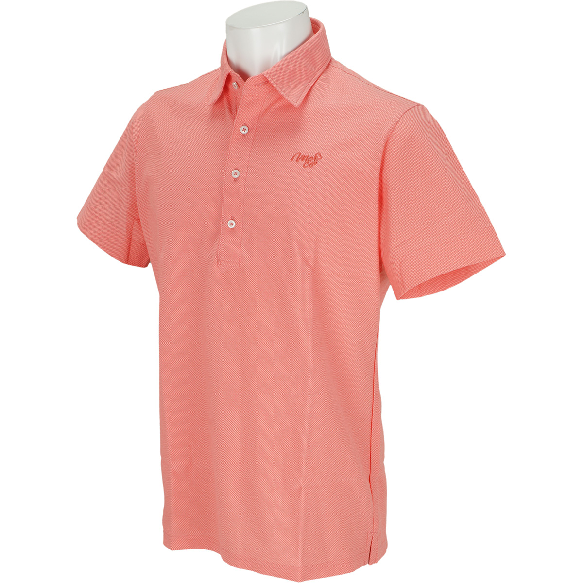 アルビニドライ 鹿の子半袖ポロシャツ