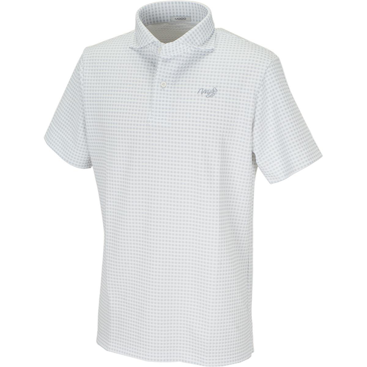 ブロックチェックジャカード半袖ポロシャツ