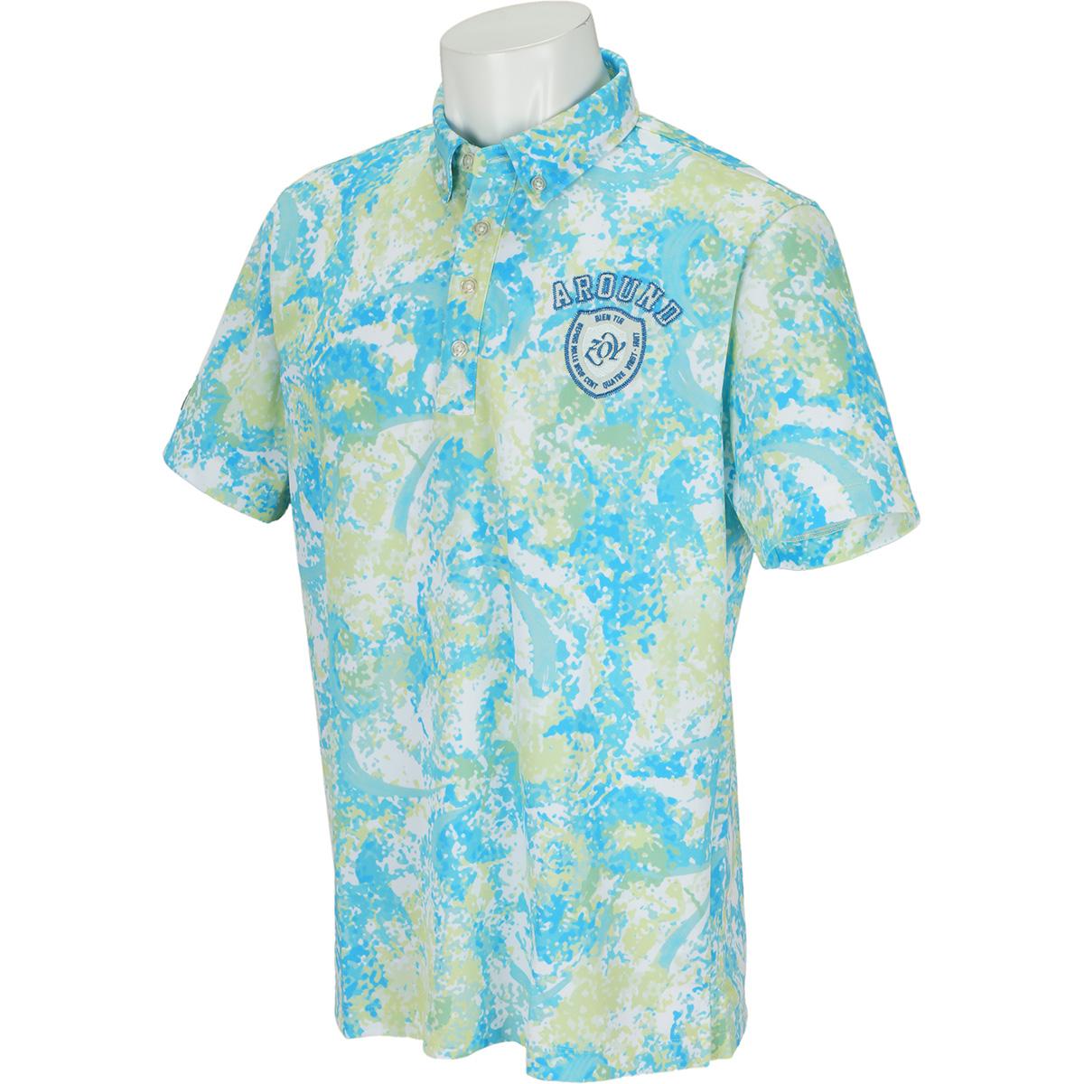 スプラッシュペイントプリント 半袖ポロシャツ