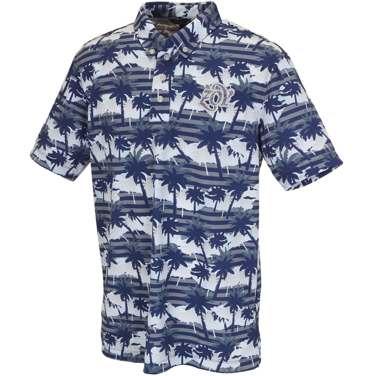 ZOY パームツリープリント 半袖ポロシャツ