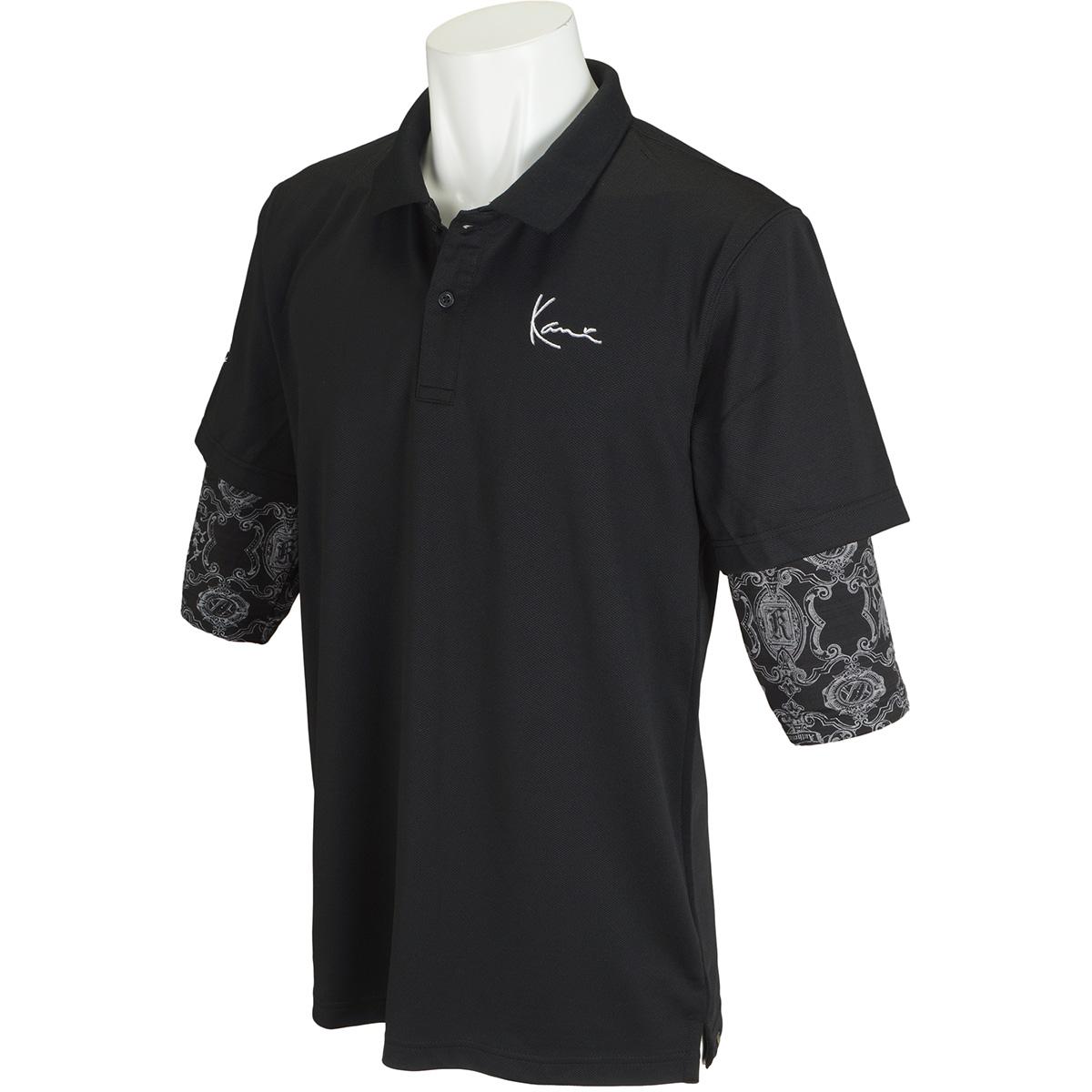 フェイクレイヤード半袖ポロシャツ