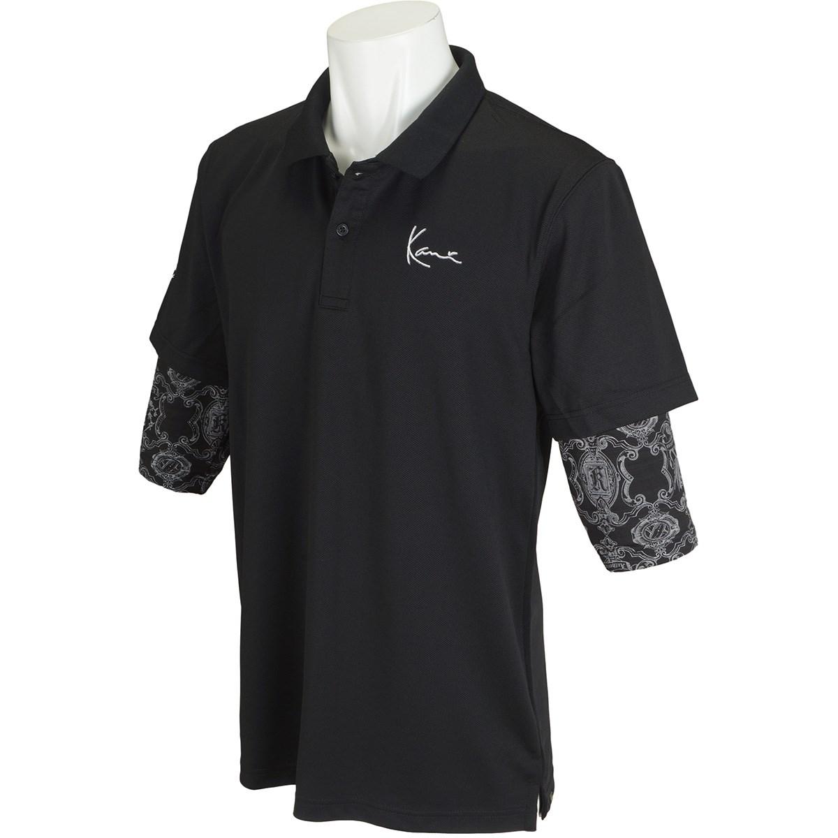 カールカナイゴルフ フェイクレイヤード半袖ポロシャツ