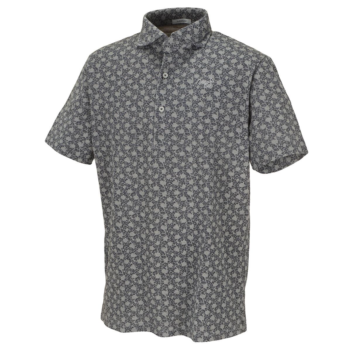 プラントプリント半袖ポロシャツ