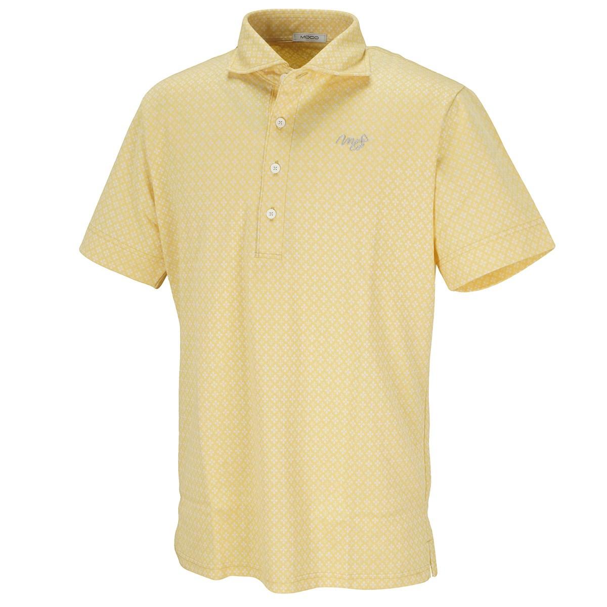 モコ ジオメトリックジャカード 半袖ポロシャツ