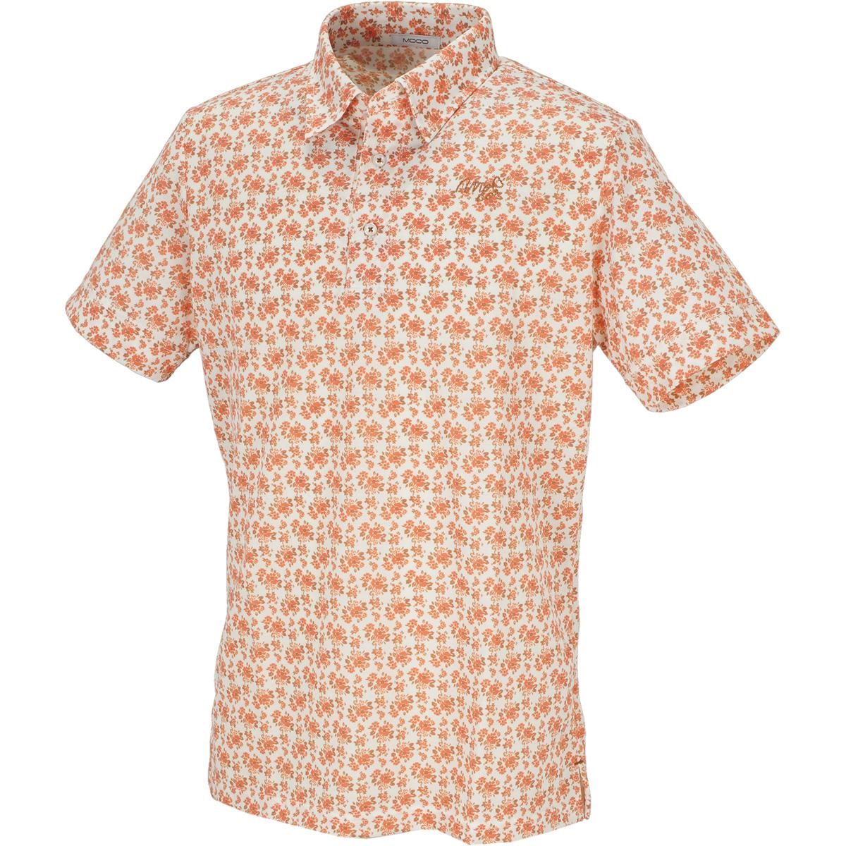 フラワープリント 半袖ポロシャツ