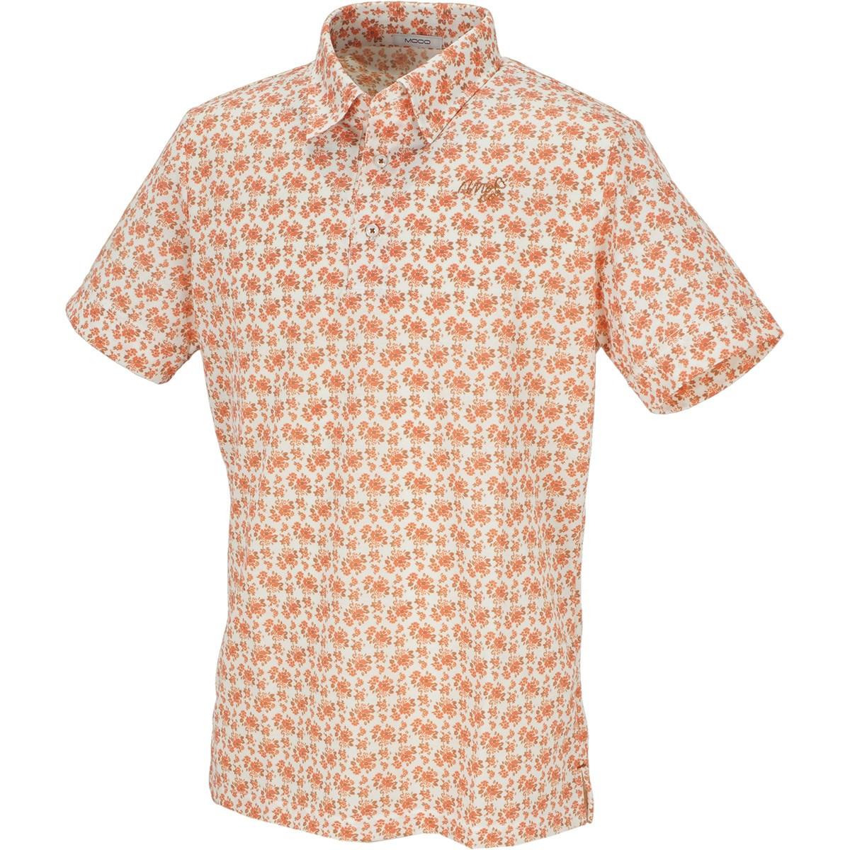 モコ フラワープリント 半袖ポロシャツ