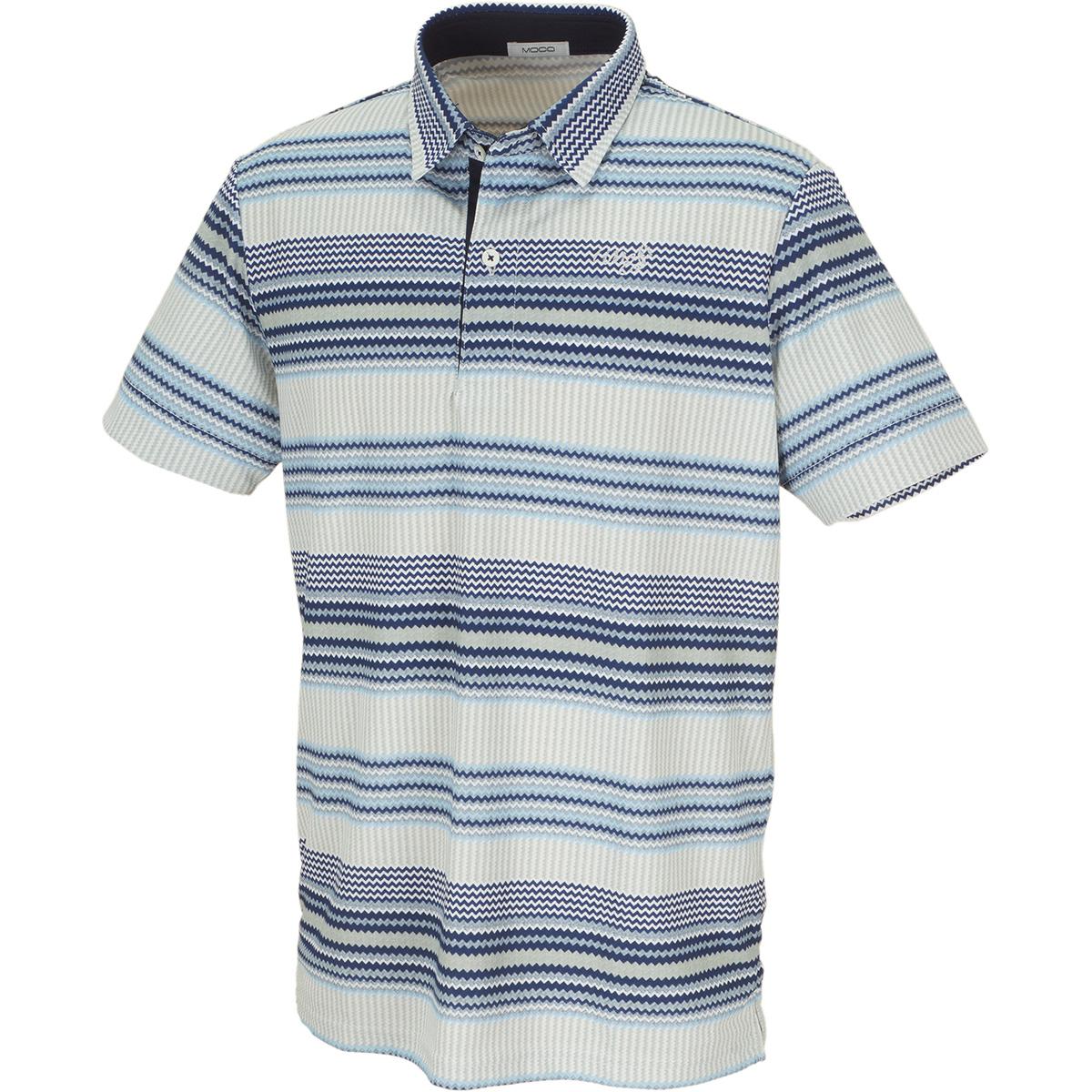 エスニックボーダー 半袖ポロシャツ