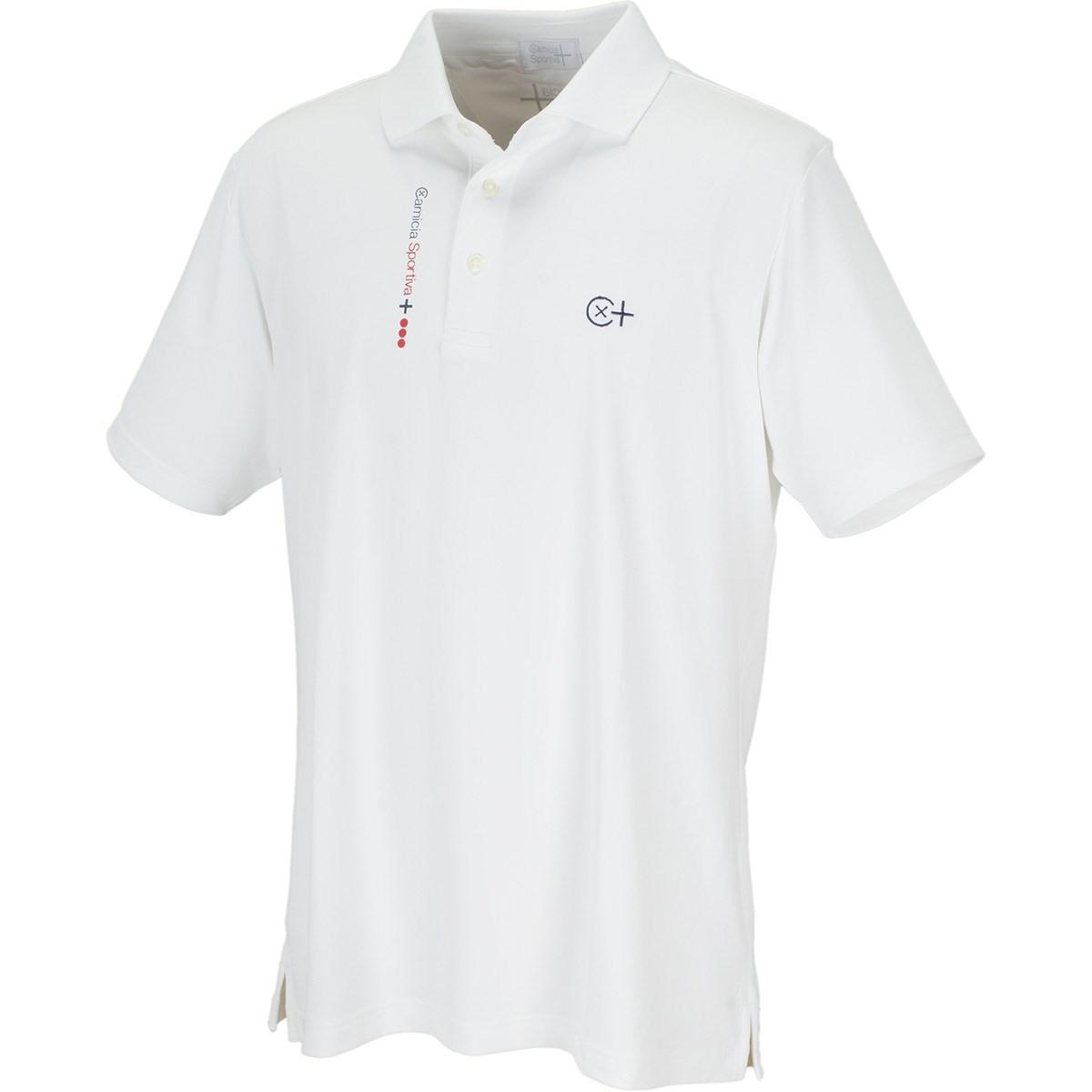 カミーチャスポルティーバプラス CamicaSportiva+ TWINCOT UV半袖ポロシャツ 48 オフホワイト