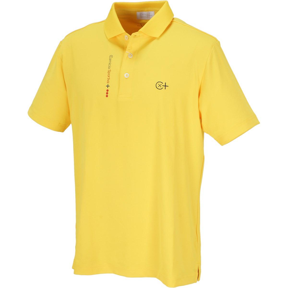 カミーチャスポルティーバプラス CamicaSportiva+ TWINCOT UV半袖ポロシャツ 48 イエロー