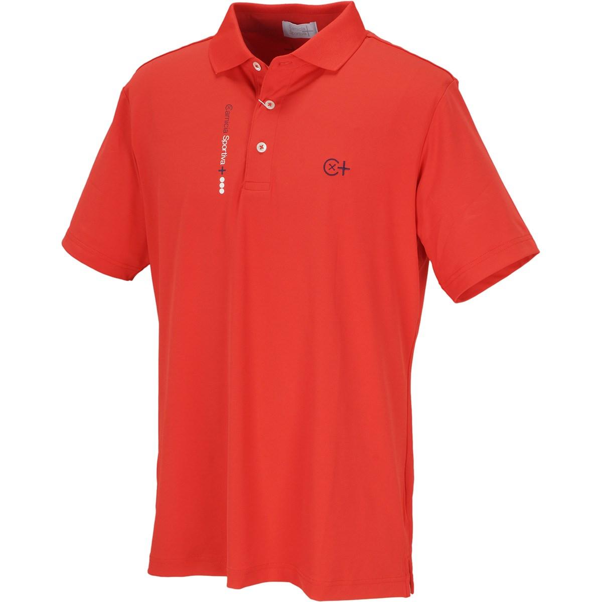 カミーチャスポルティーバプラス CamicaSportiva+ TWINCOT UV半袖ポロシャツ 48 レッド