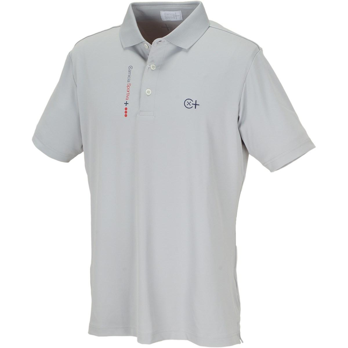 カミーチャスポルティーバプラス CamicaSportiva+ TWINCOT UV半袖ポロシャツ 48 シルバーグレー
