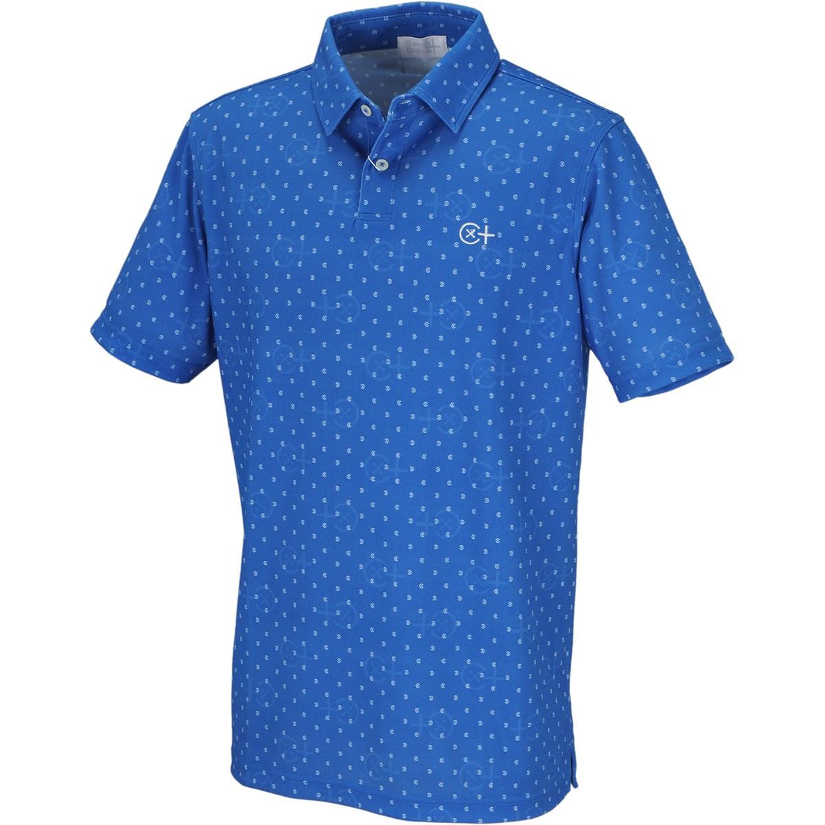 カミーチャスポルティーバプラス ボタンドットプリント 半袖プリントポロシャツ