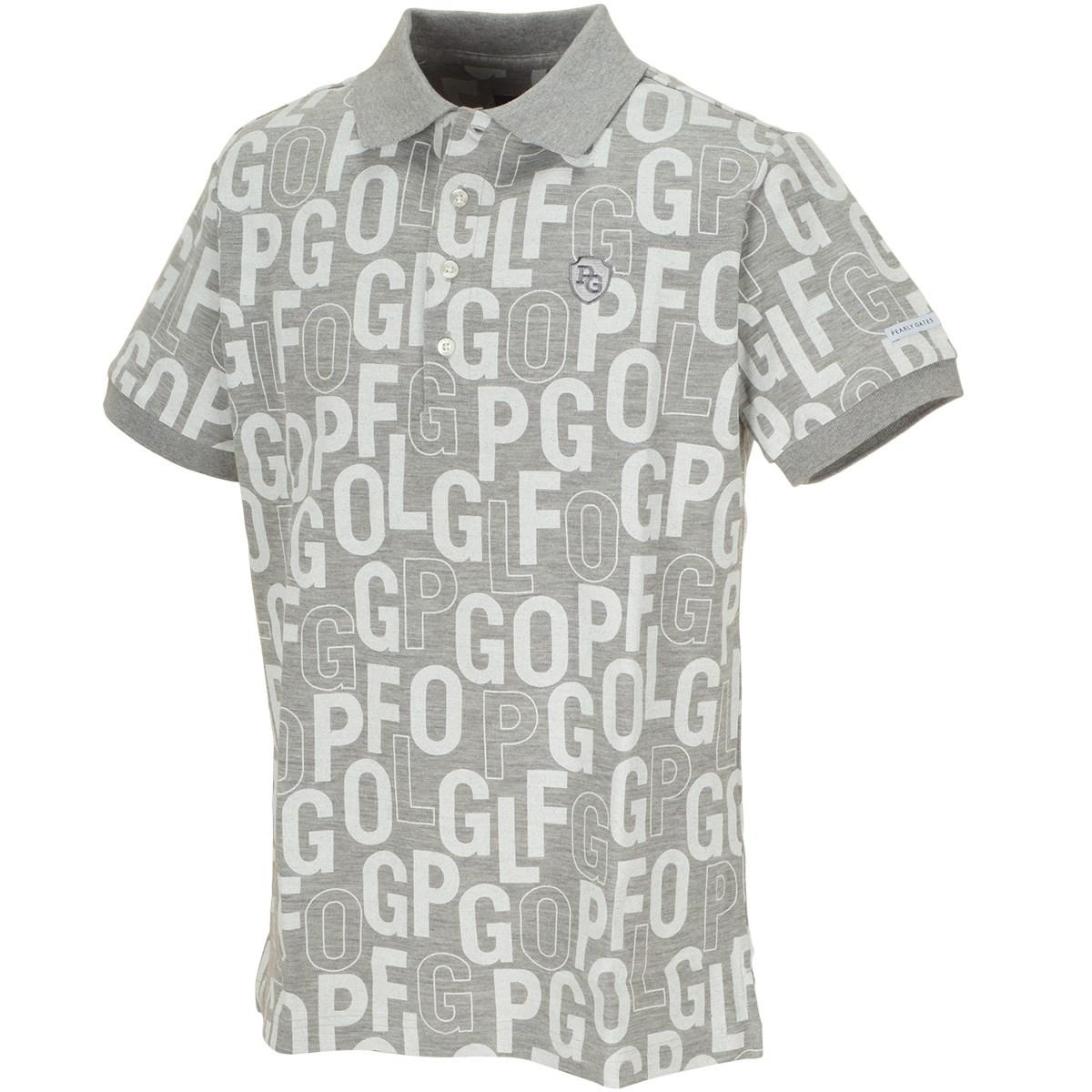 パーリーゲイツ Wフェイス鹿の子 ロゴ柄半袖ポロシャツ