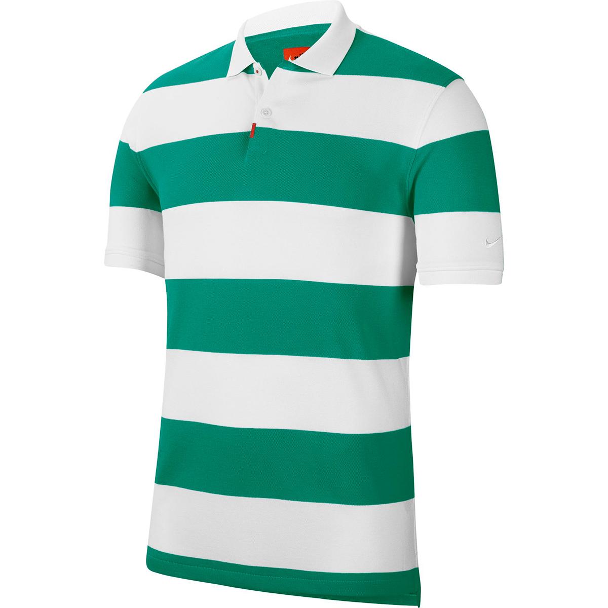 ストライプ半袖ポロシャツ