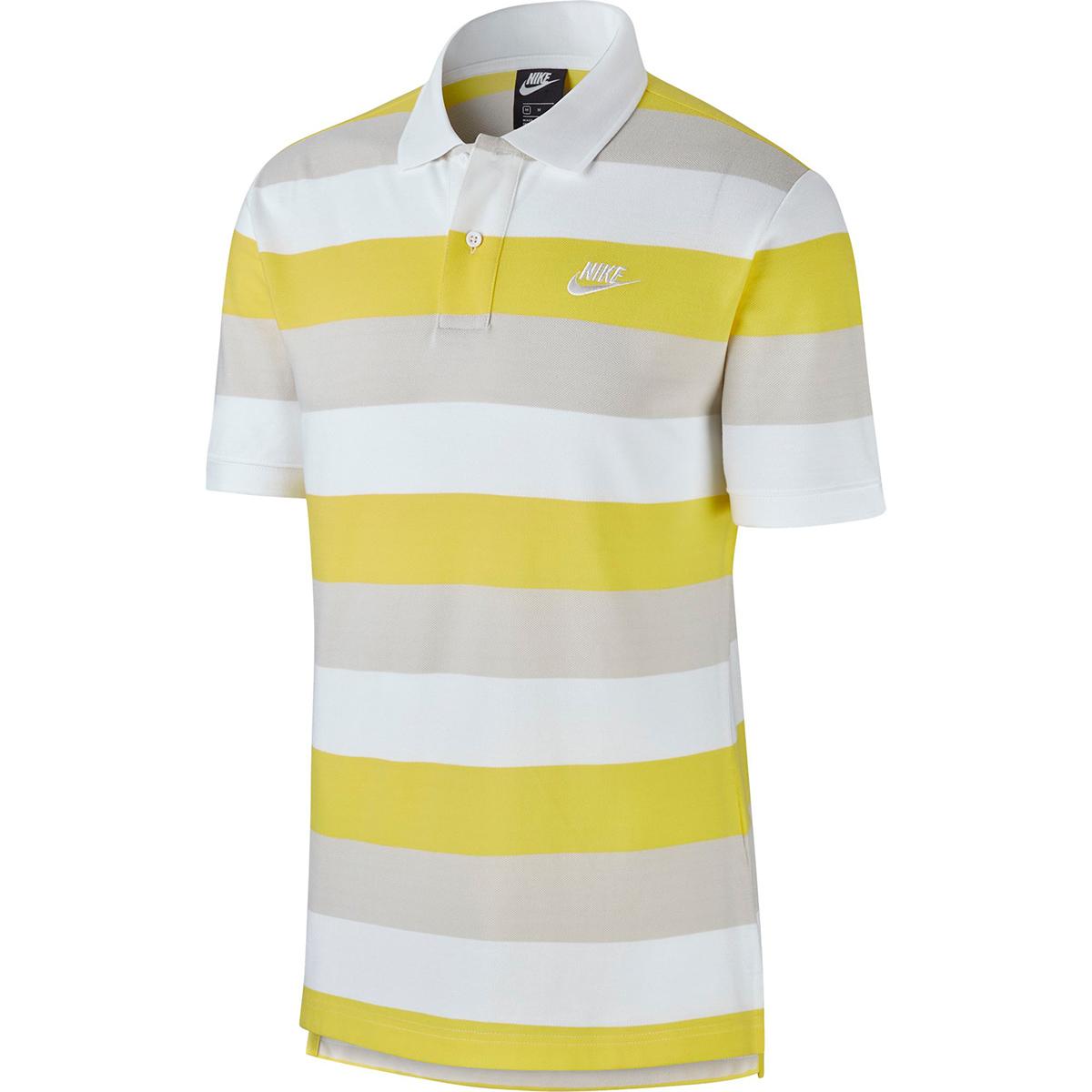 マッチアップストライプ半袖ポロシャツ