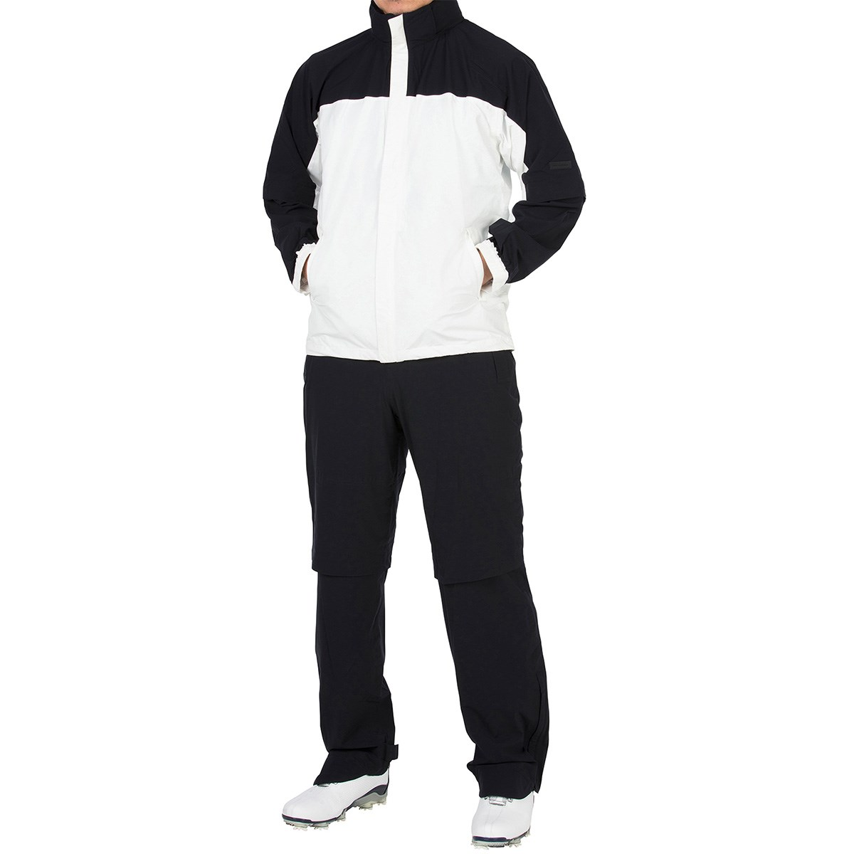 GDO オリジナル GDO ORIGINAL ストレッチ レインスーツ L ブラック/ホワイト/ブラック