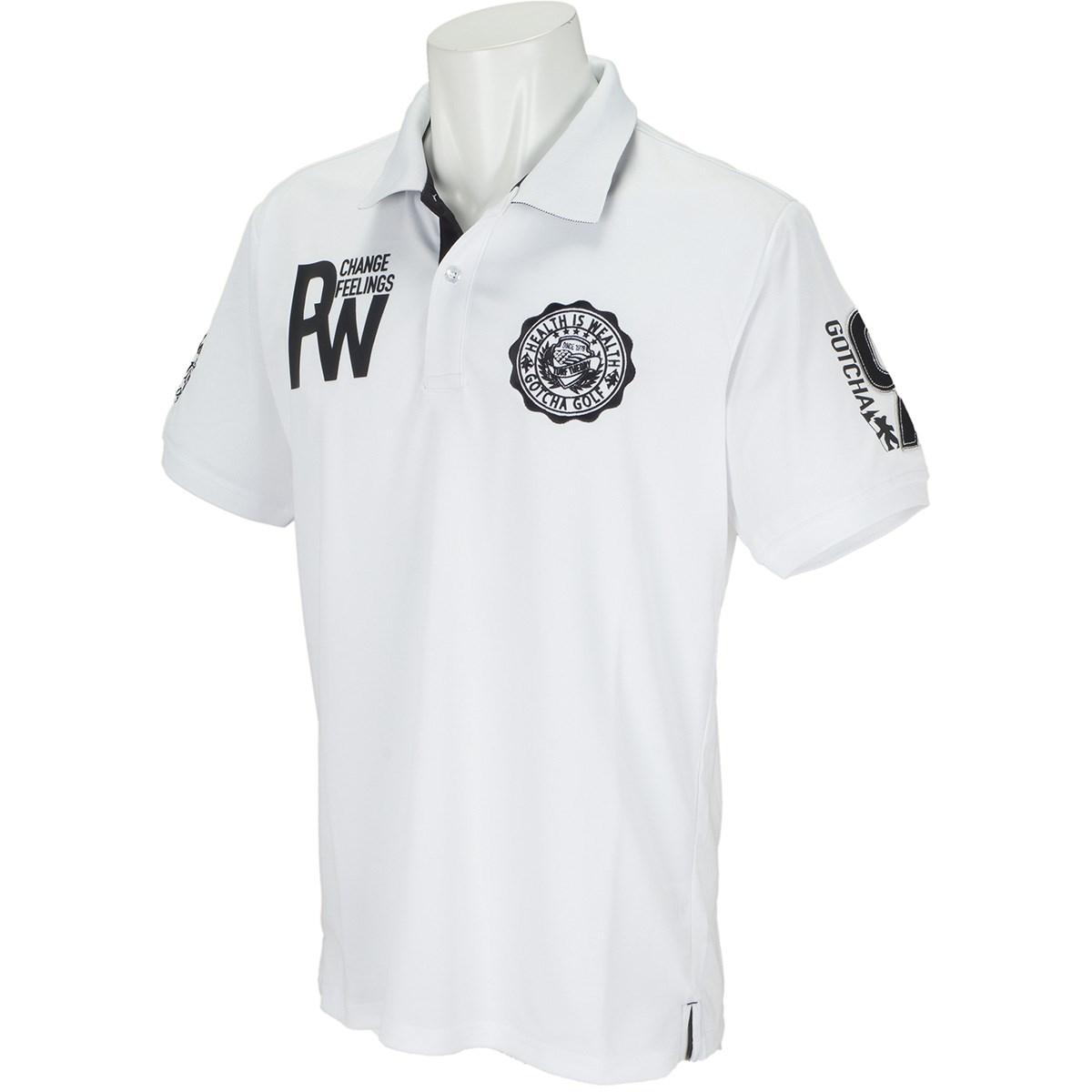 ガッチャゴルフ GOTCHA GOLF ドライUVカット 半袖ポロシャツVI XL ホワイト