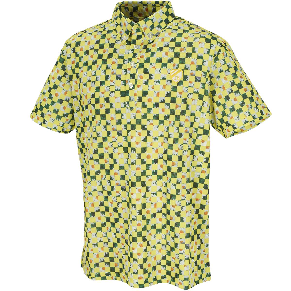 スパン鹿の子 マーガレットプリント 半袖ポロシャツ