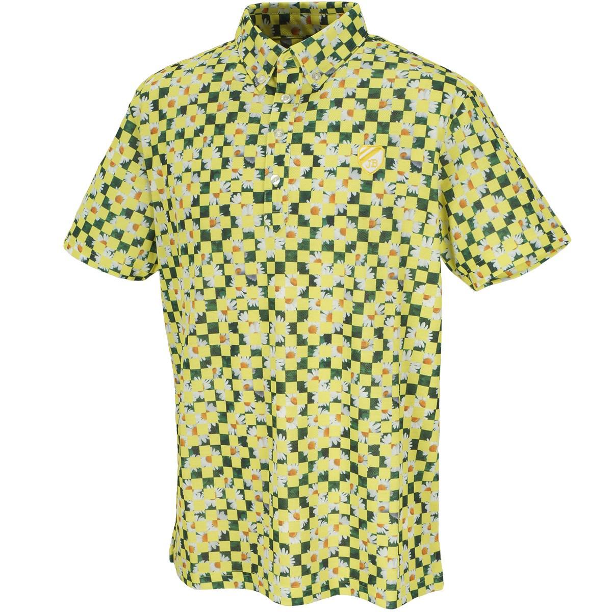 ジャックバニー バイ パーリーゲイツ スパン鹿の子 マーガレットプリント 半袖ポロシャツ