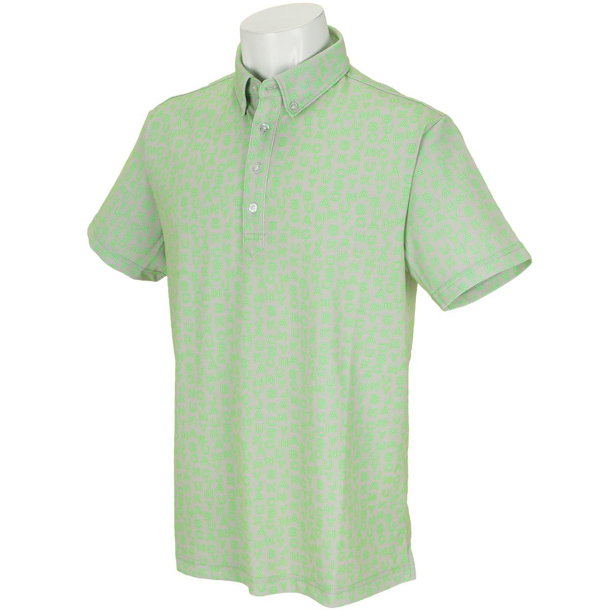 スパン鹿の子 ネオンロゴプリント 半袖ポロシャツ