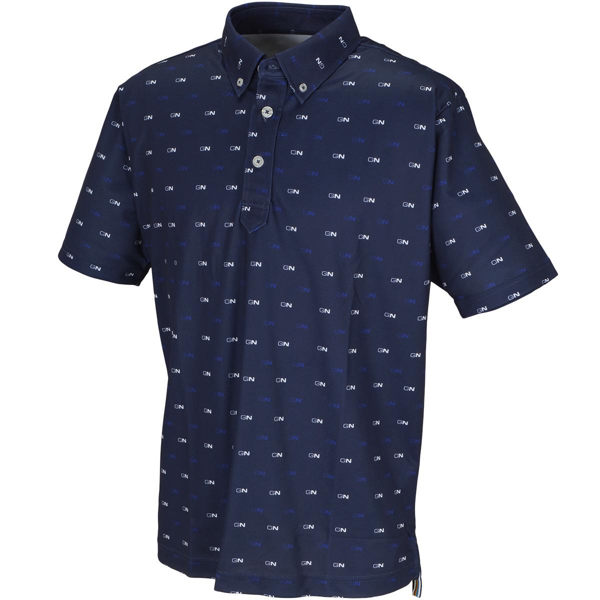 GN小紋柄 半袖ボタンダウンポロシャツ