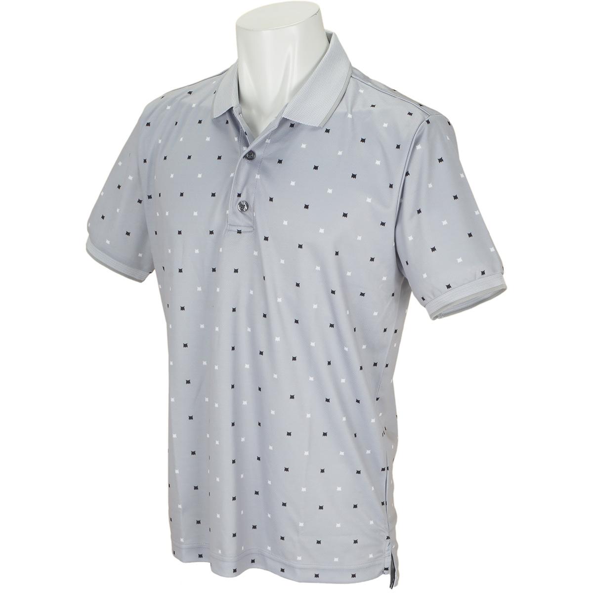 山猫プリント半袖ポロシャツ