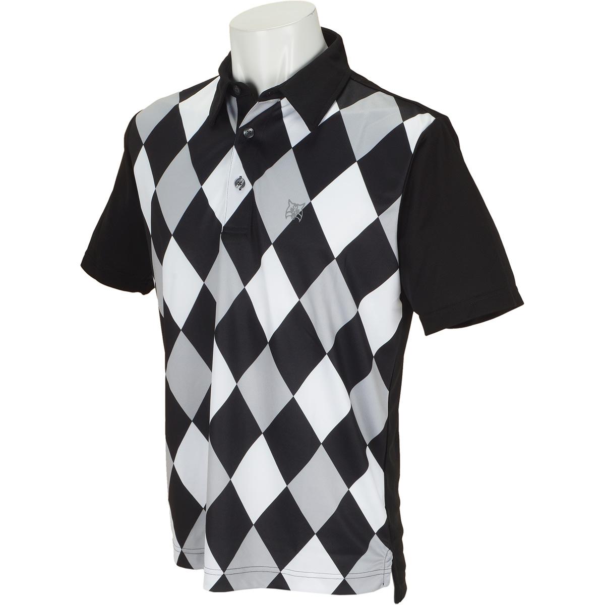ダイヤプリント半袖ポロシャツ