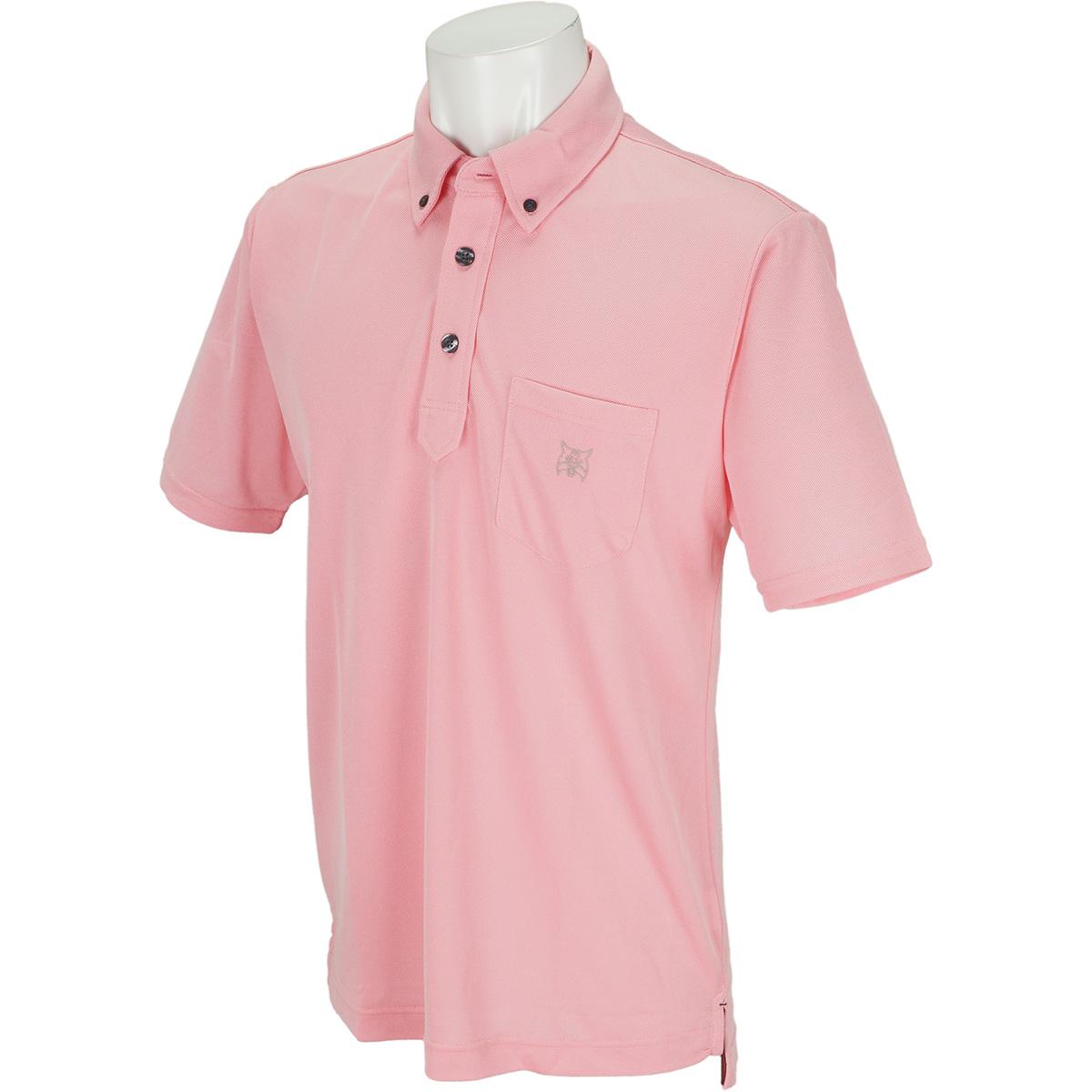 ポケット付きボタンダウン半袖ポロシャツ