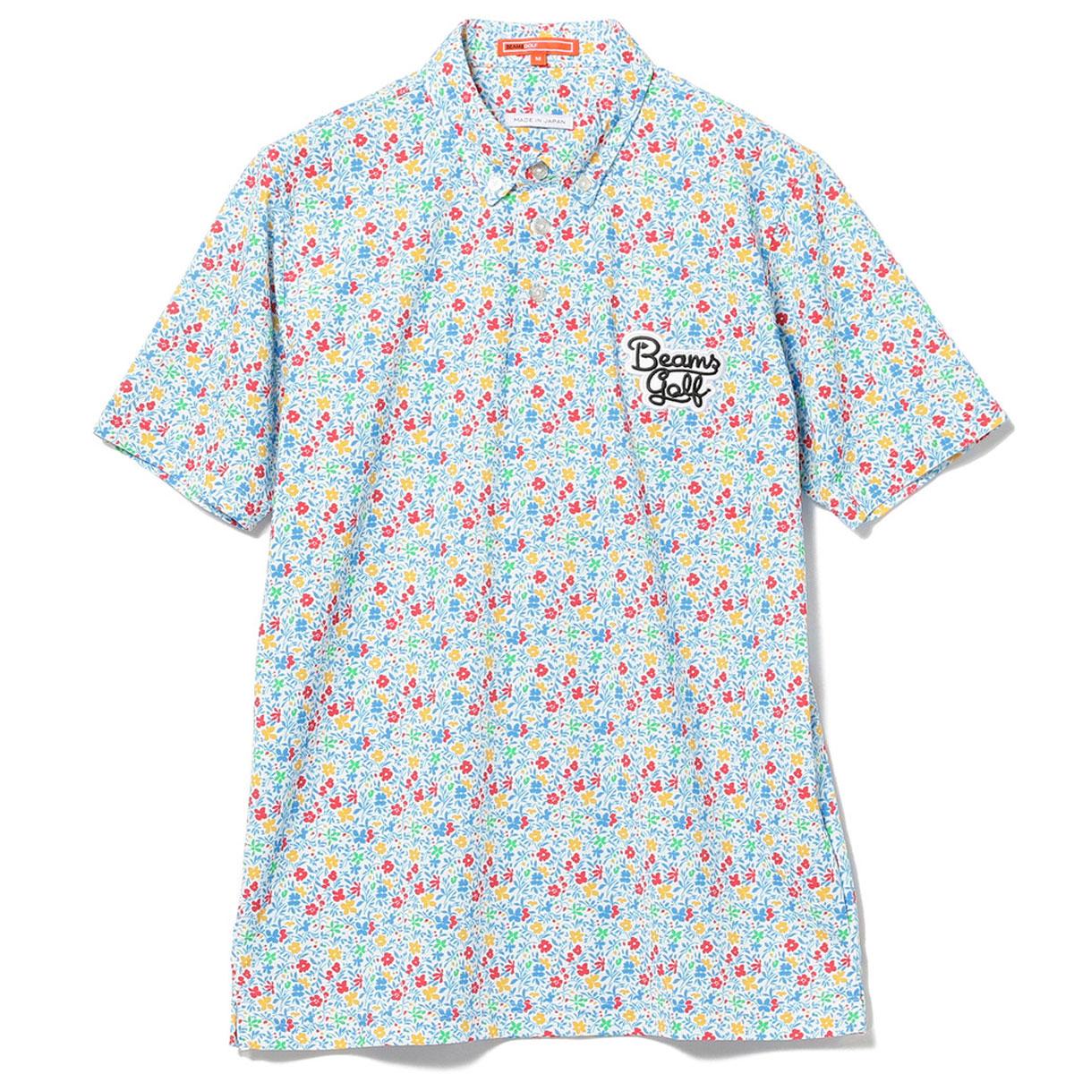 BEAMS GOLF ORANGE LABEL フラワープリント ポロシャツ