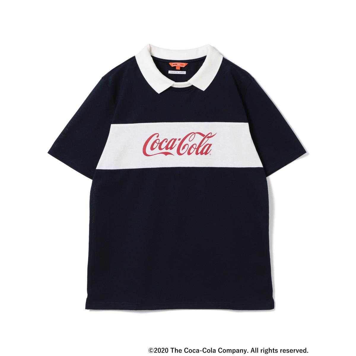 BEAMS GOLF ORANGE LABEL 別注 COCA-COLA ロゴポロシャツ