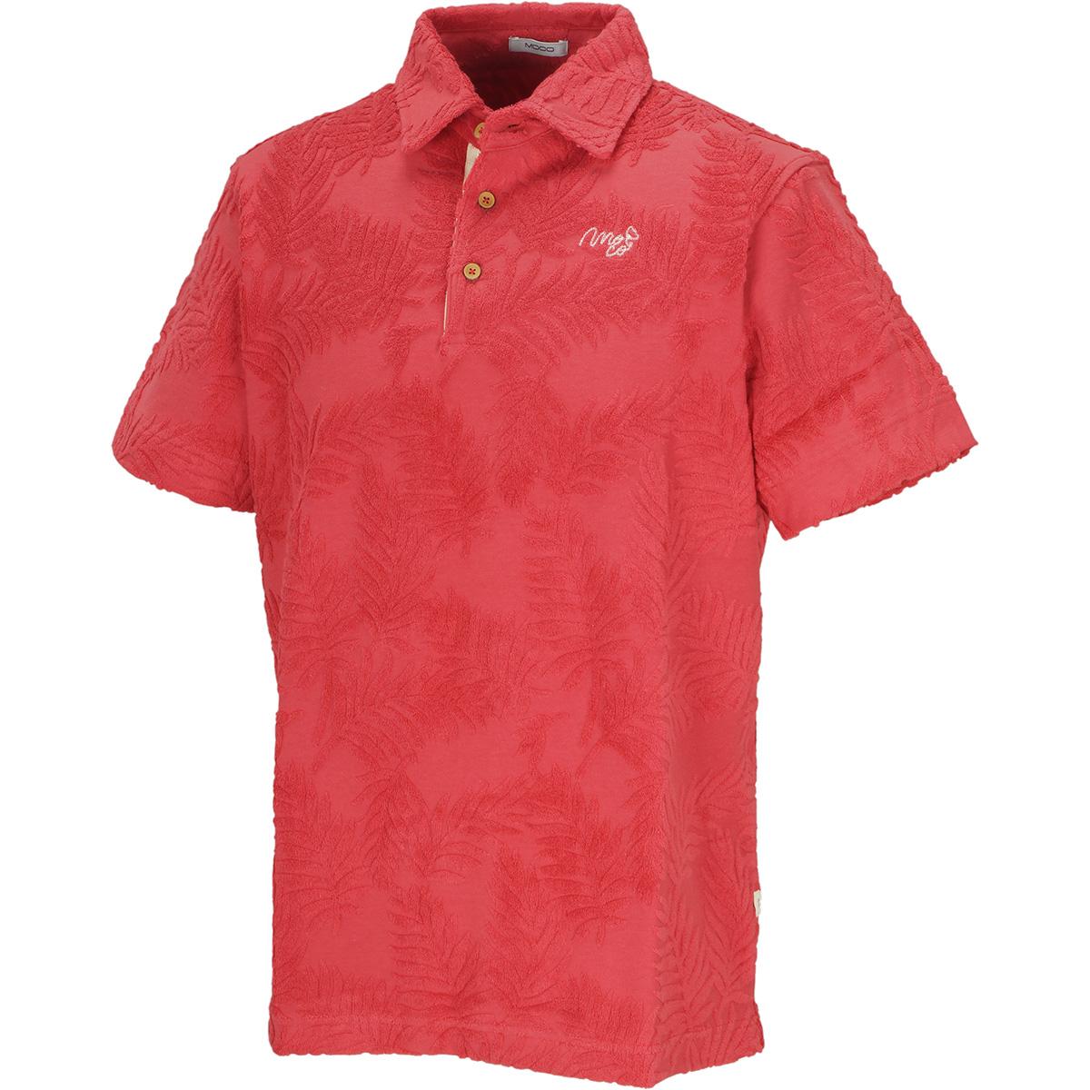 パームジャカードパイル 半袖ポロシャツ