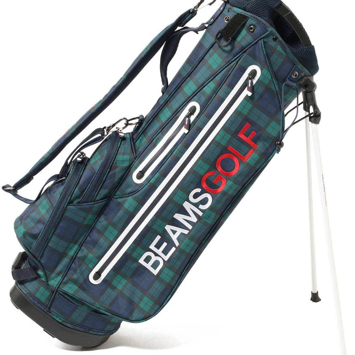 ビームスゴルフ BEAMS GOLF NEW スタンドキャディバッグ ブラックウォッチレディス