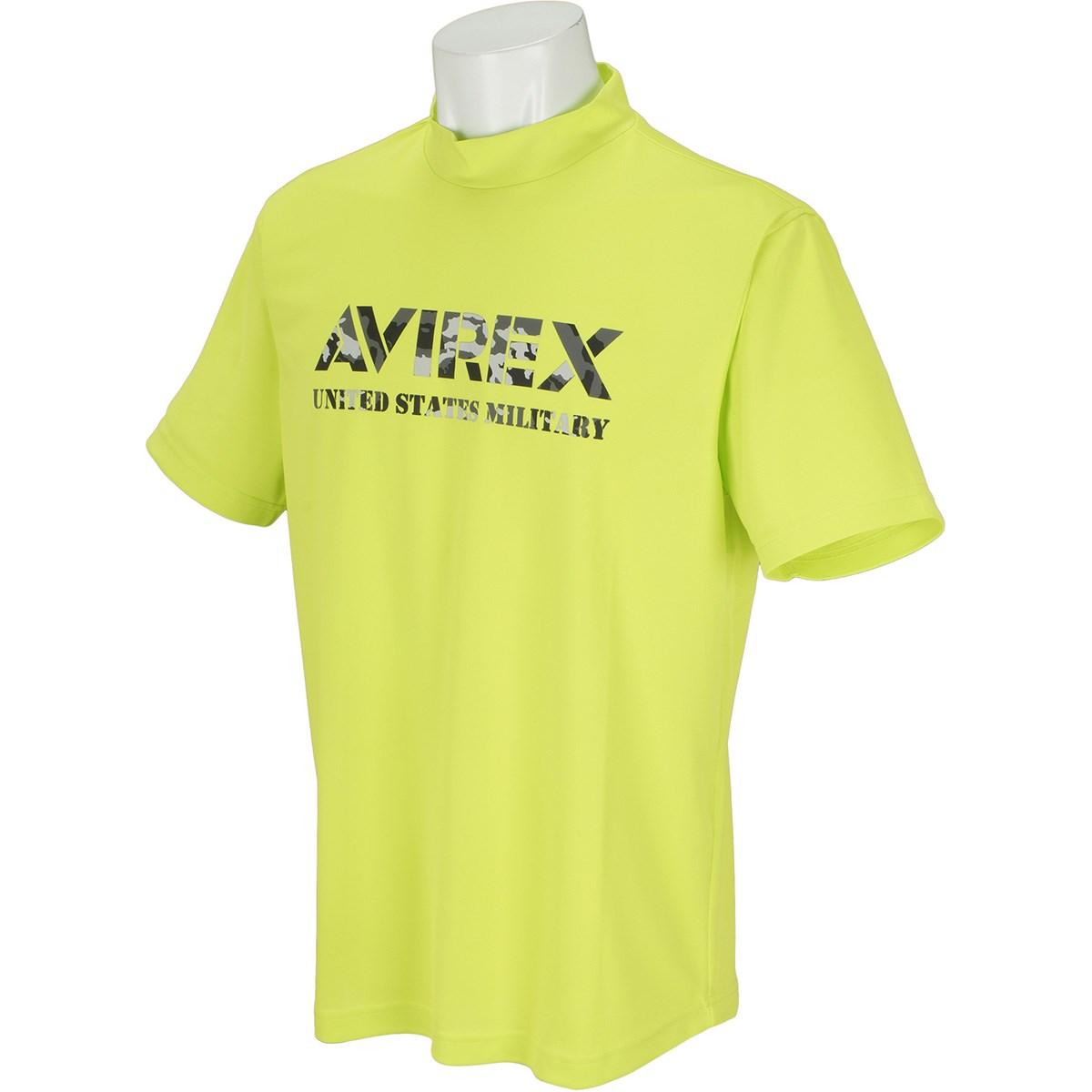 アビレックス ゴルフ AVIREX GOLF 半袖モックネックシャツ M ネオンイエロー