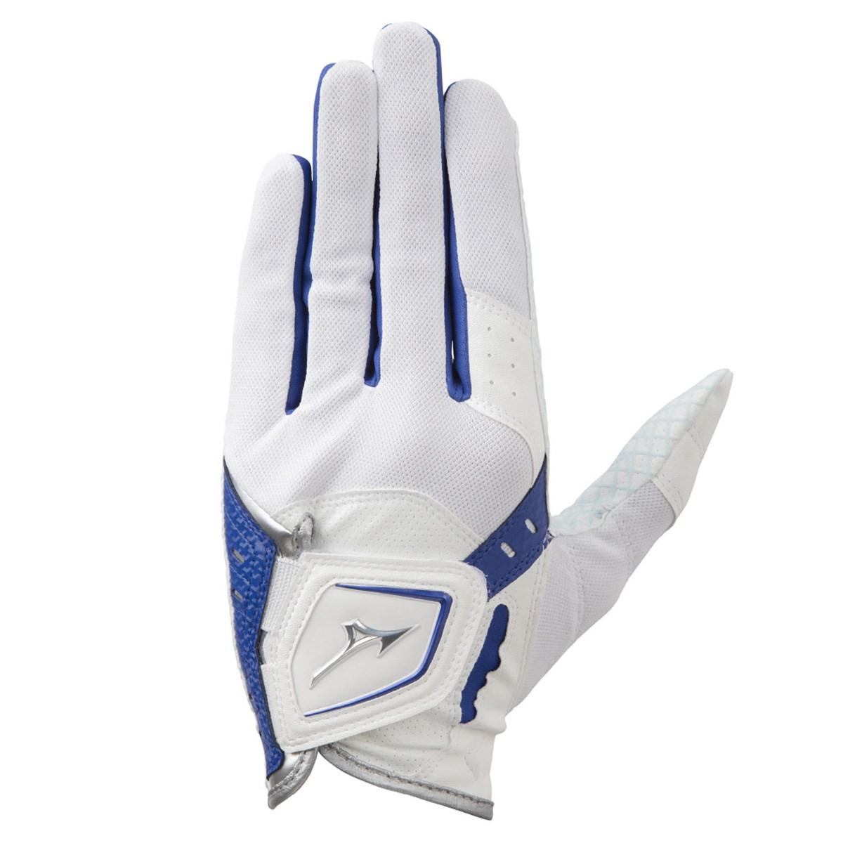 ミズノ MIZUNO クールグリップ グローブ 21cm 左手着用(右利き用) ホワイト/ブルー