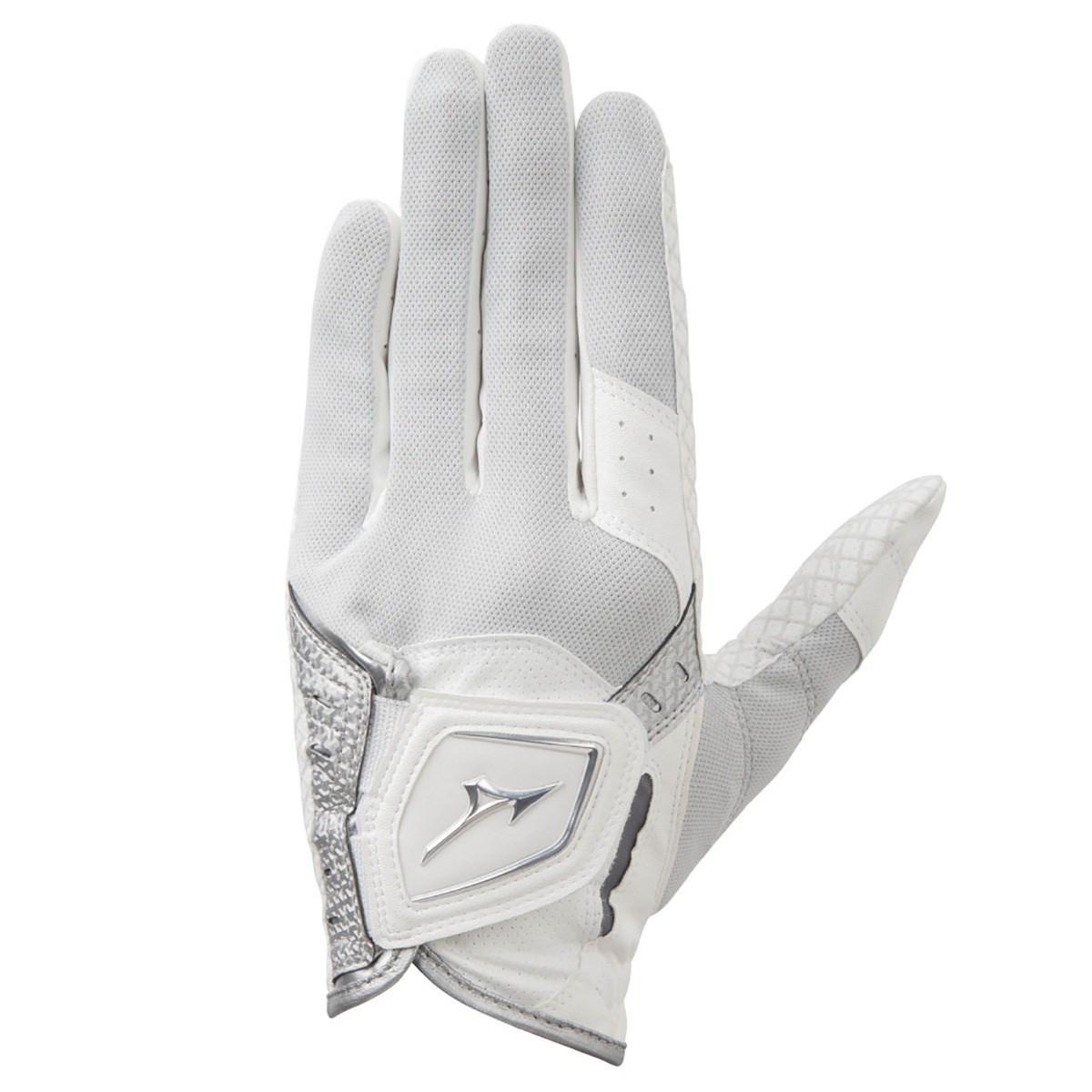 ミズノ MIZUNO クールグリップ グローブ 21cm 左手着用(右利き用) ホワイト/シルバー