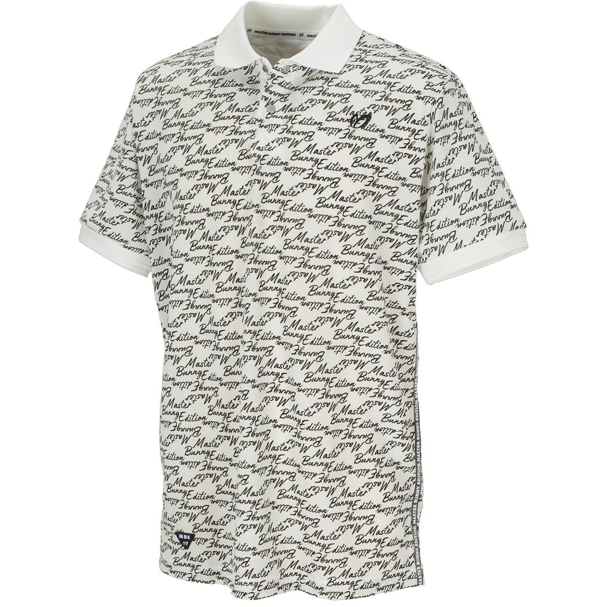 筆記体ロゴプリント エコペットTF×Eフィラメント鹿の子半袖ポロシャツ