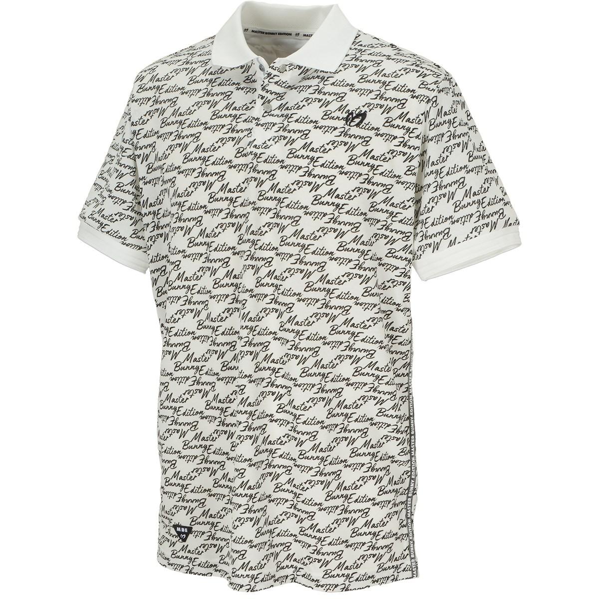 マスターバニーエディション 筆記体ロゴプリント エコペットTF×Eフィラメント鹿の子半袖ポロシャツ