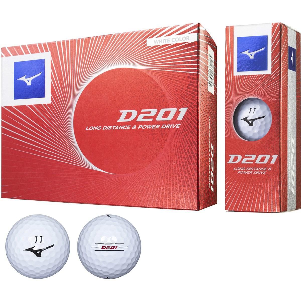 ミズノ 201 D201 ゴルフボール 1ダース(12個入り) ホワイト