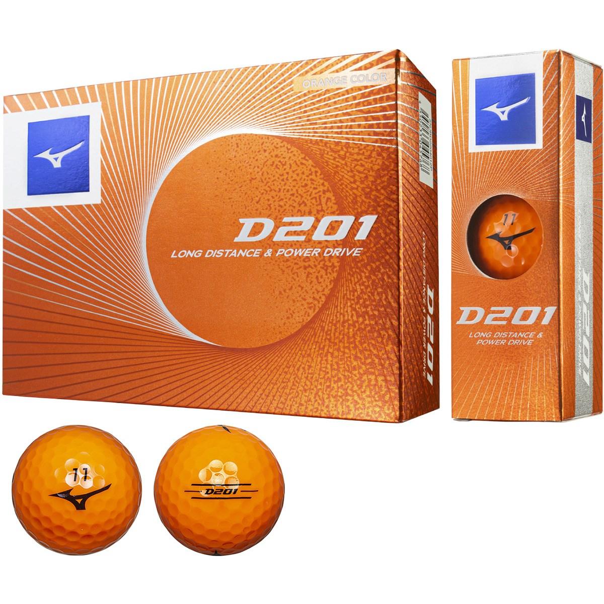 ミズノ 201 D201 ゴルフボール 1ダース(12個入り) オレンジ