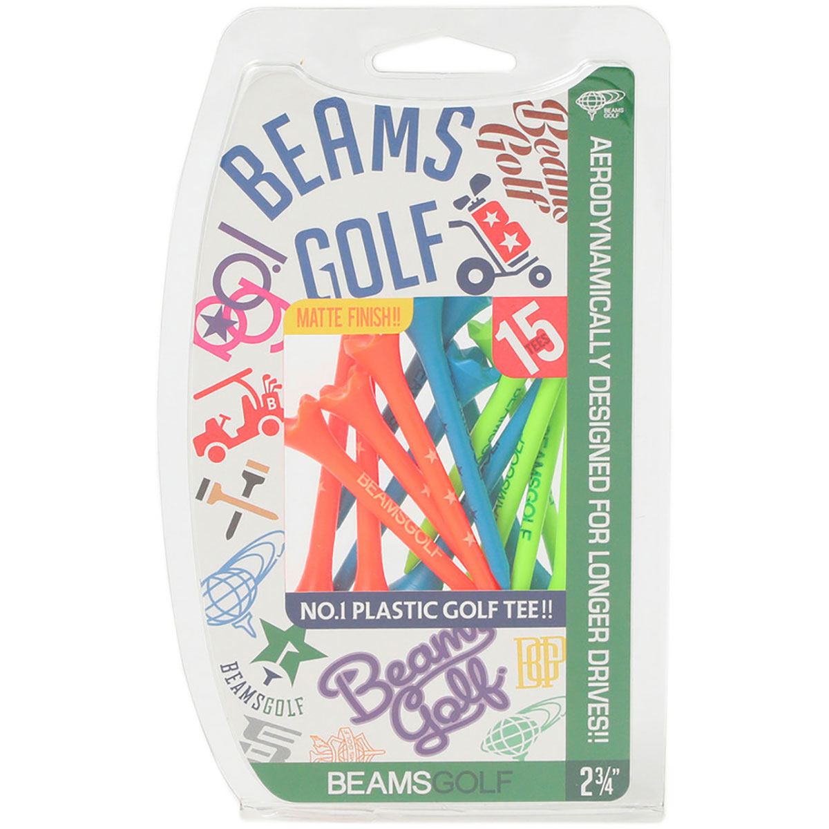 BEAMS GOLF オリジナル パフォーマンス ティー(69mm)