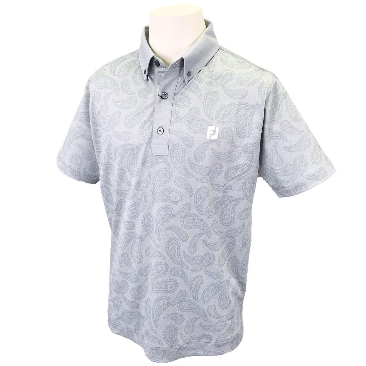 ペイズリー鹿の子 ストレッチ 半袖ポロシャツ