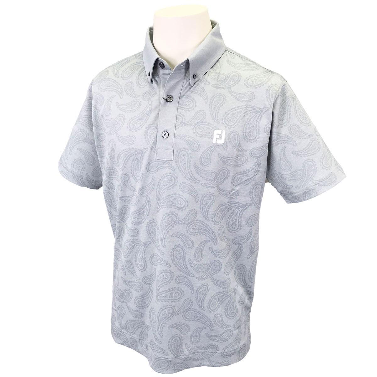 フットジョイ(FootJoy) ペイズリー鹿の子 ストレッチ 半袖ポロシャツ