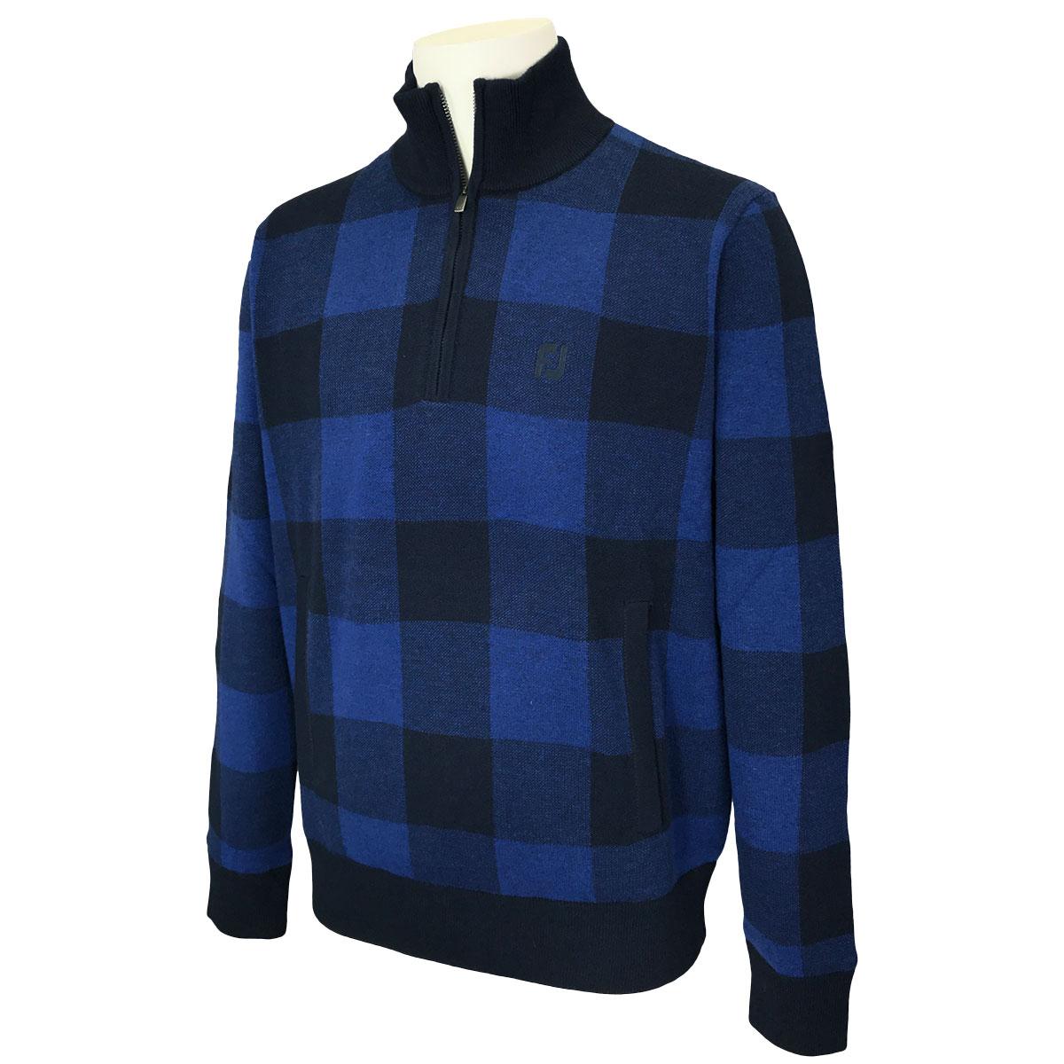 防風ハーフジップセータージャケット