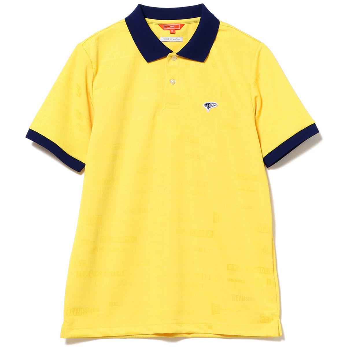 ビームスゴルフ BEAMS GOLF ORANGE LABEL マルチ ロゴ ジャカード ポロシャツ