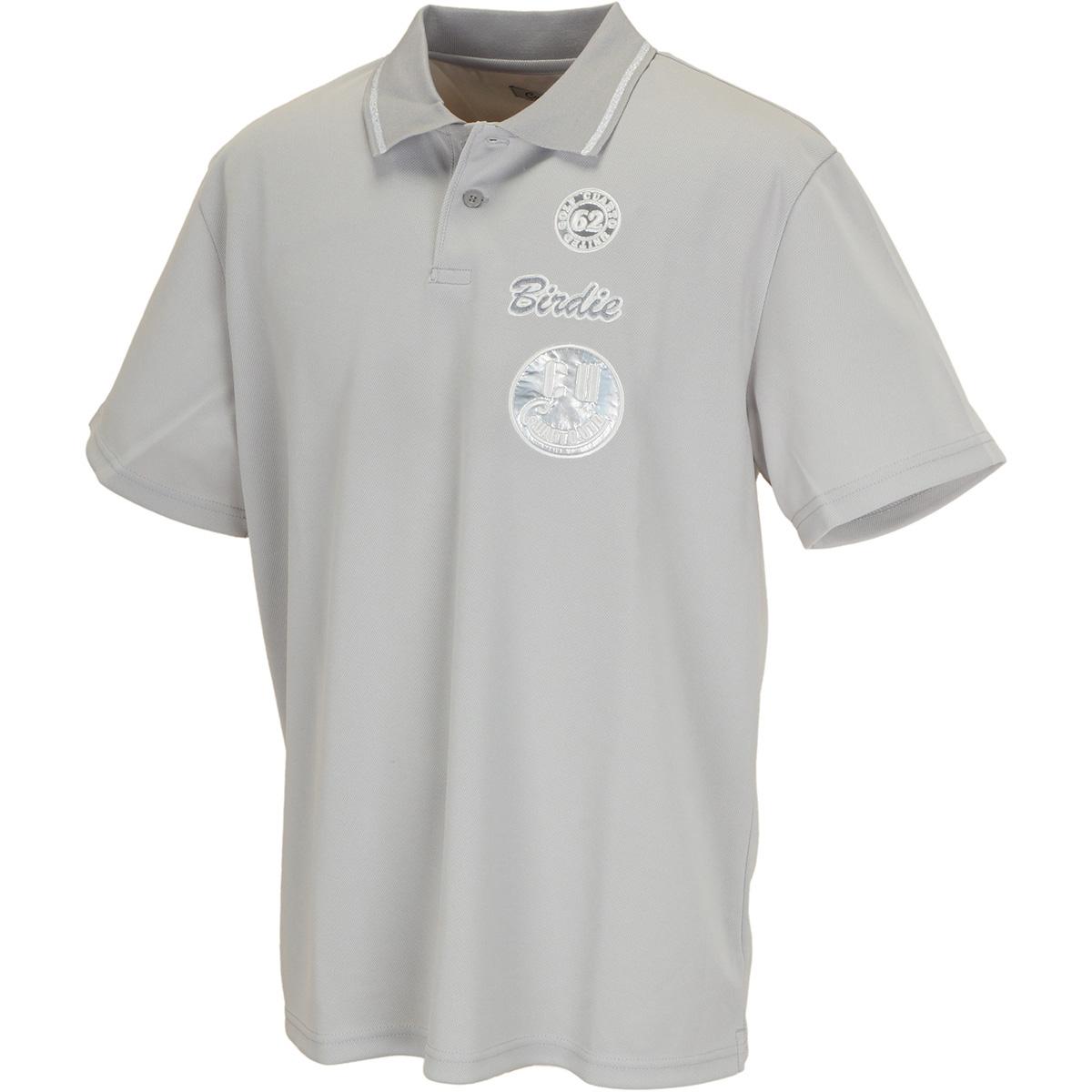 ワッペンシンプル半袖ポロシャツ