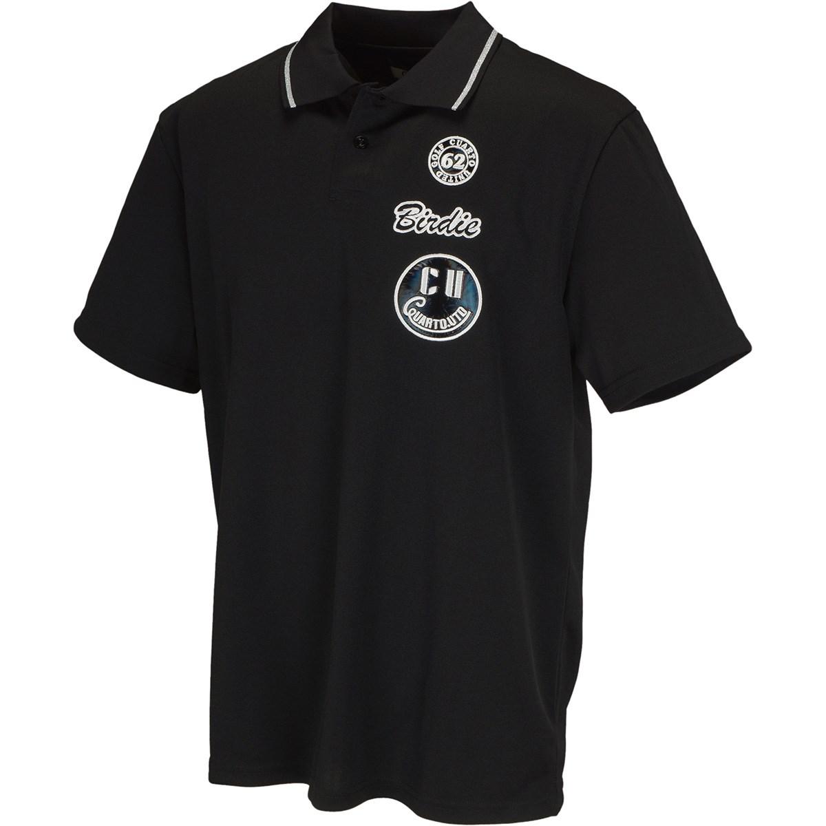 [アウトレット] [50%OFF 在庫限りのお買い得商品] クアルトユナイテッド ワッペンシンプル半袖ポロシャツ ブラック ゴルフウェア