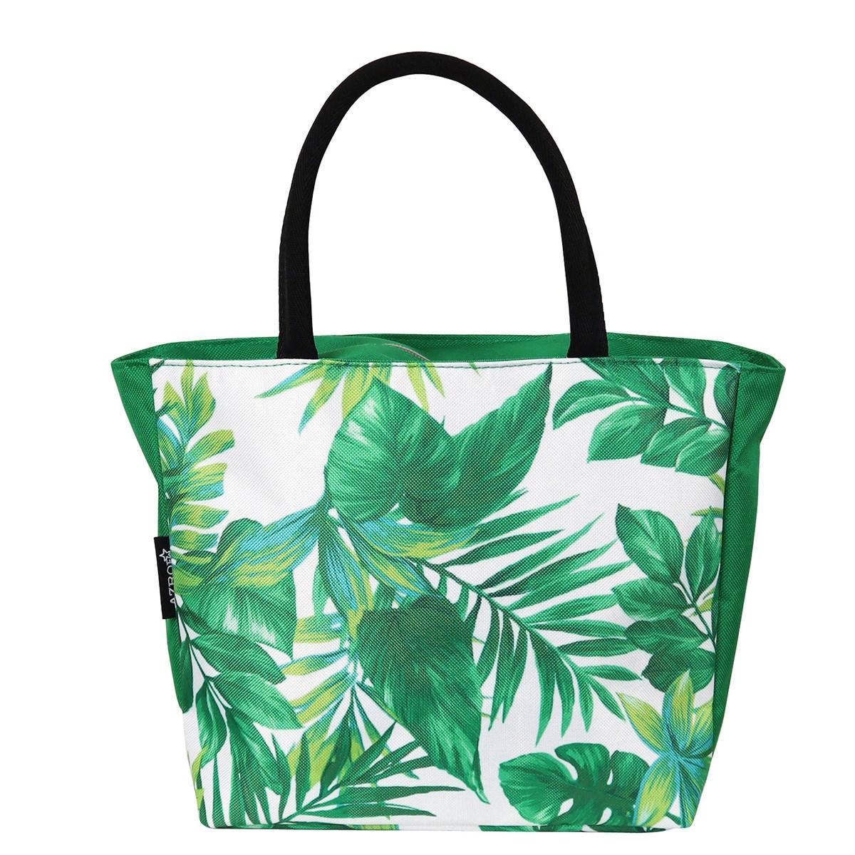 AZROF ミニトートバッグ ボタニカルグリーン