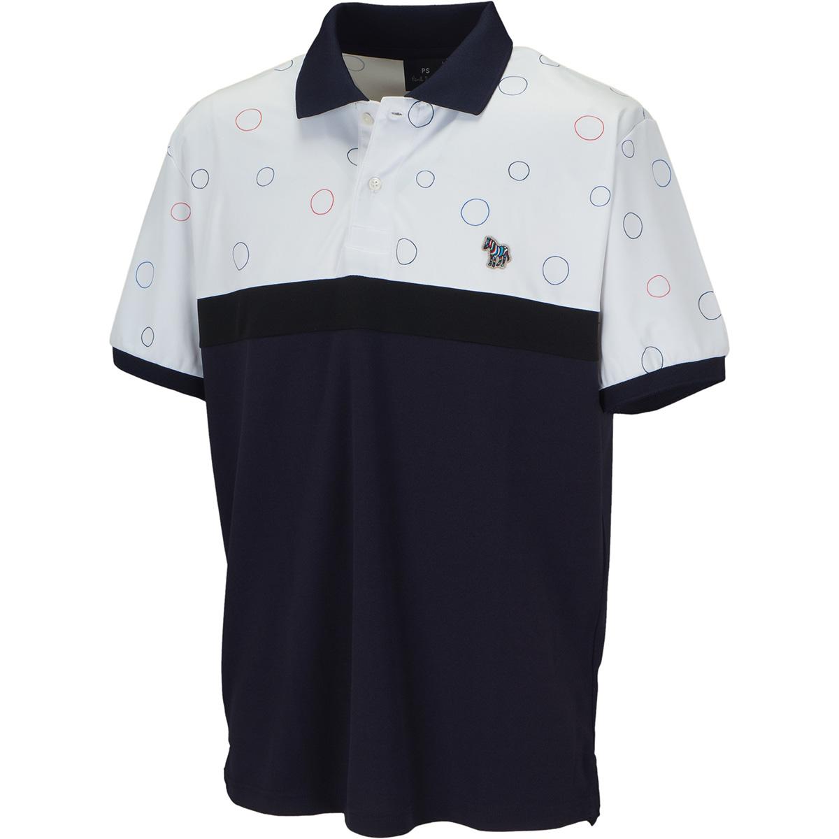 ゼブラワッペン カラーブロック 半袖ポロシャツ
