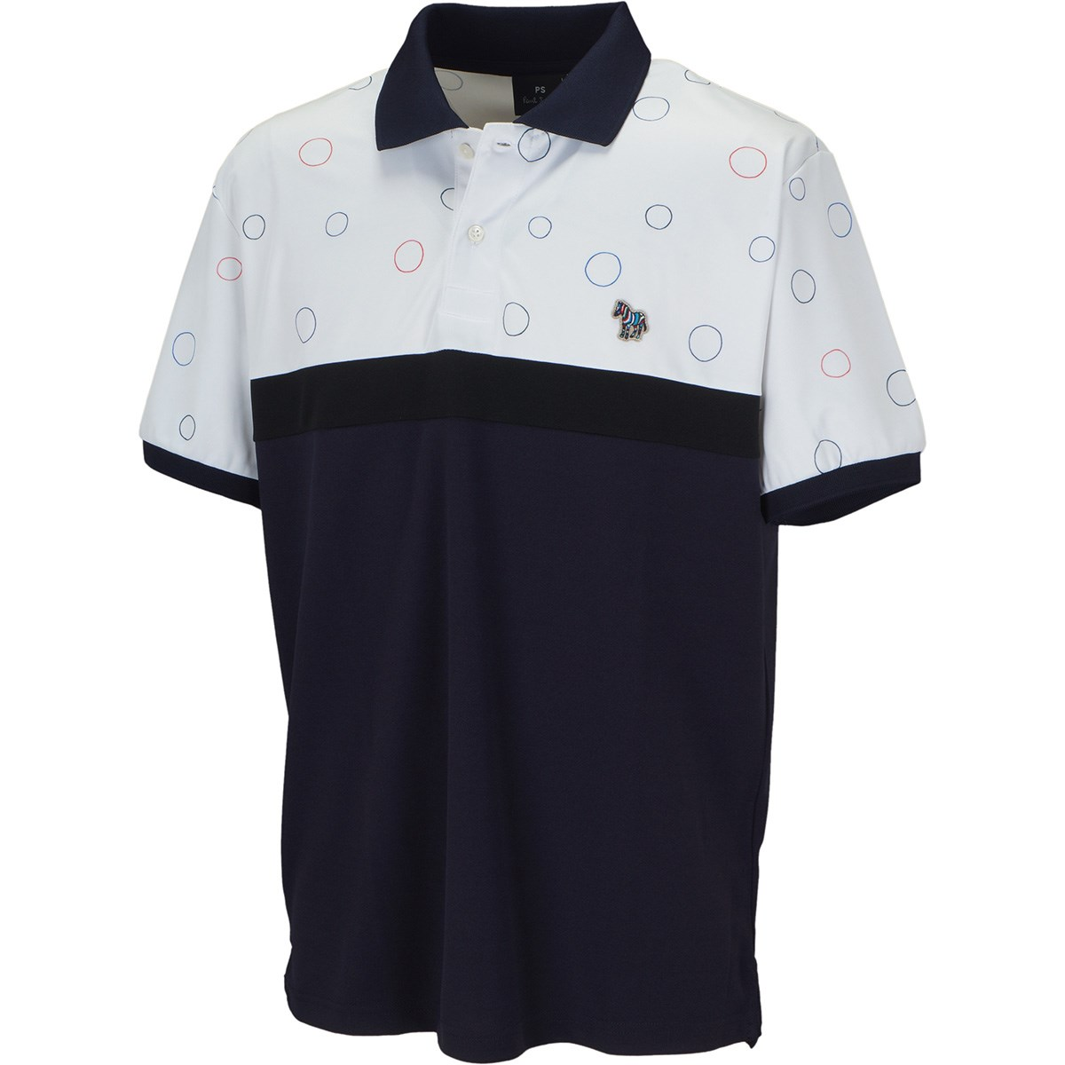 PS ポール・スミス ゼブラワッペン カラーブロック 半袖ポロシャツ