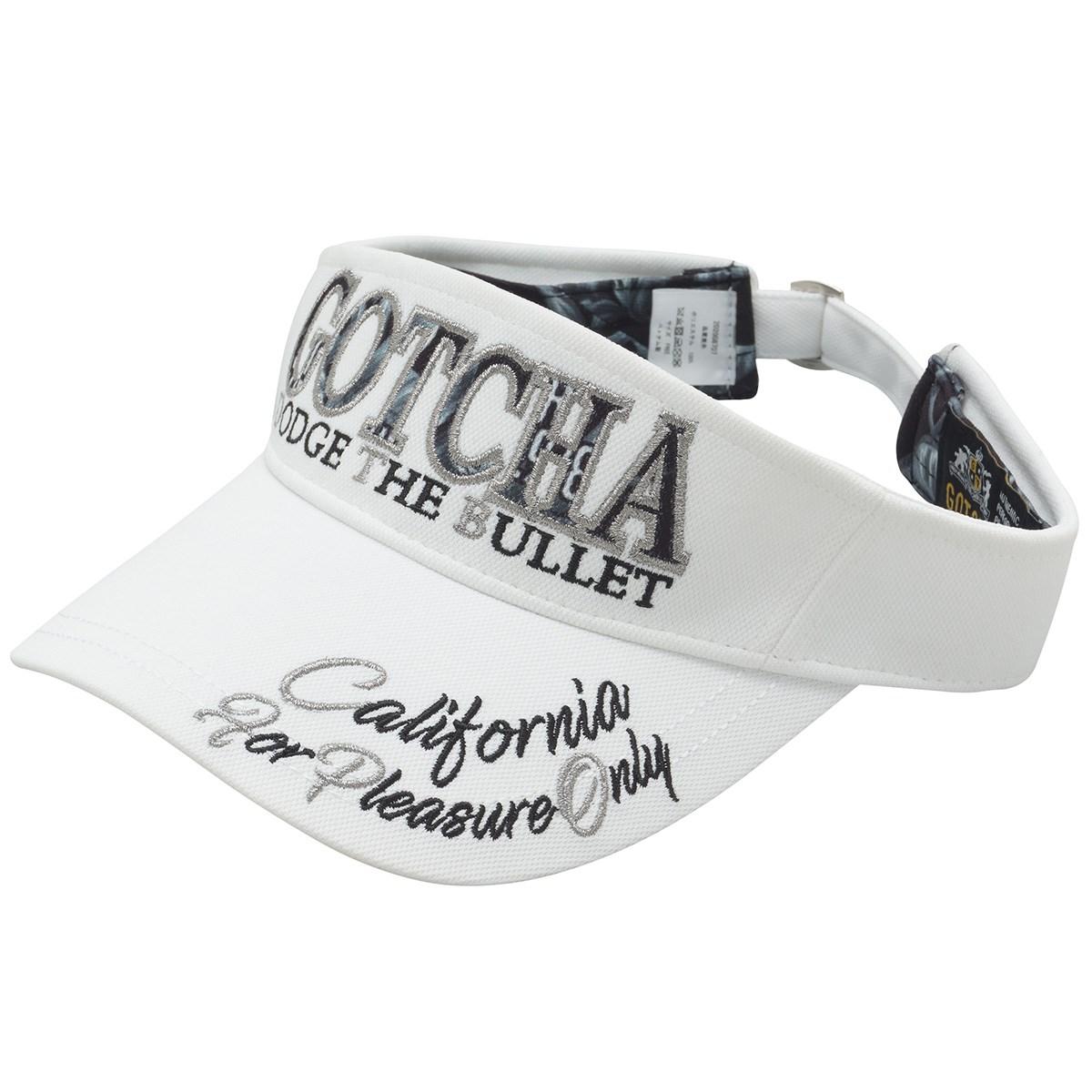 ガッチャゴルフ GOTCHA GOLF モノトーンMAX サンバイザー フリー ホワイト